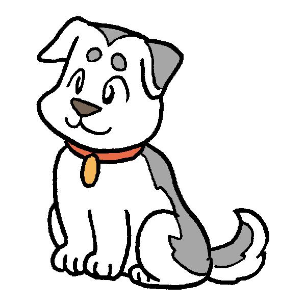 犬1のイラスト