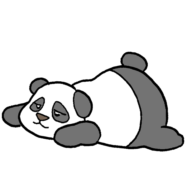 寝るパンダのイラスト ...