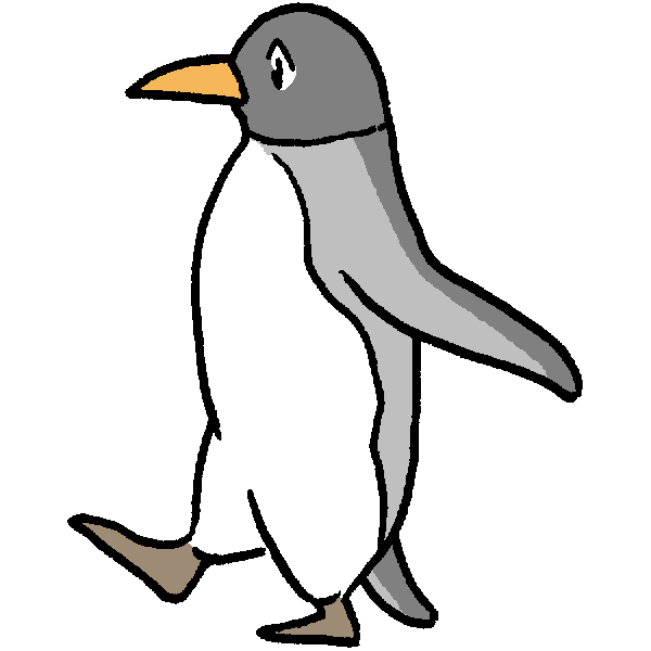 ペンギン歩くのイラスト