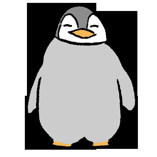 ペンギンヒナ1のイラスト