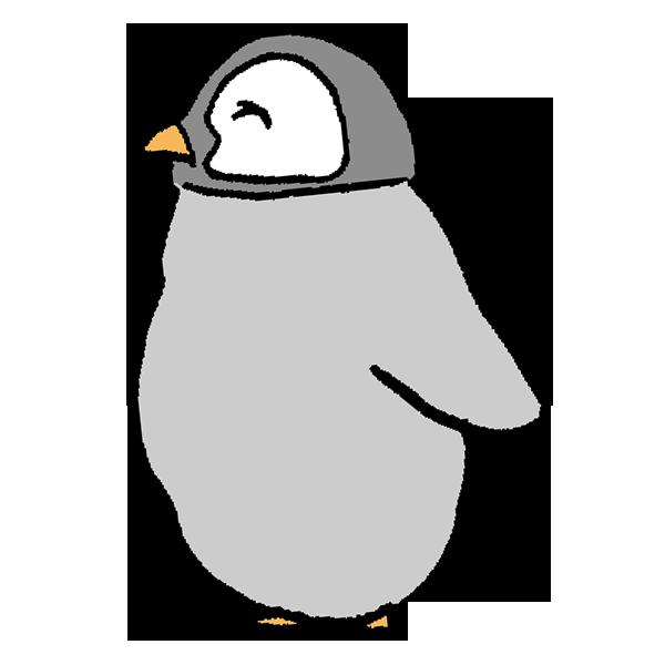 ペンギンヒナ2のイラスト