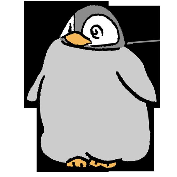 ペンギンヒナ3のイラスト