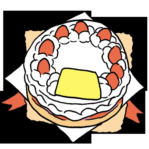 ケーキ2のイラスト