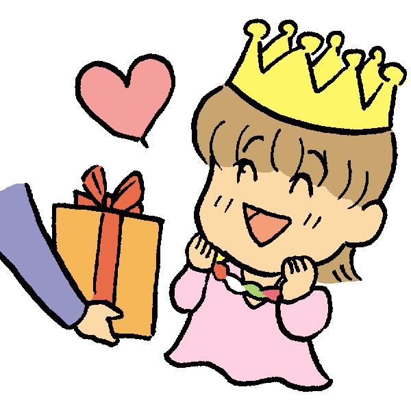 誕生日女の子のイラスト