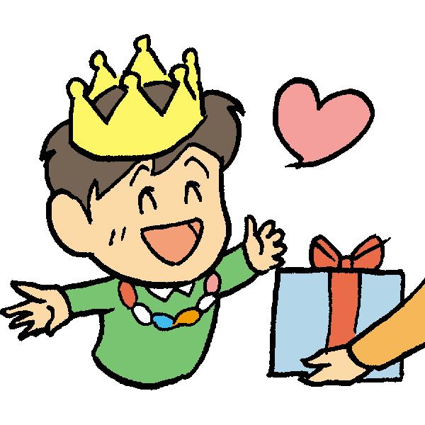 誕生日男の子のイラスト