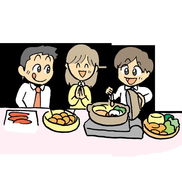 鍋奉行のイラスト