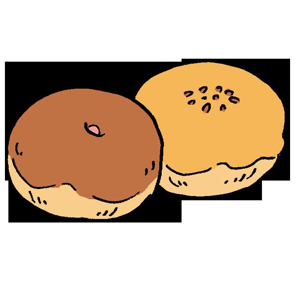 菓子パンのイラスト