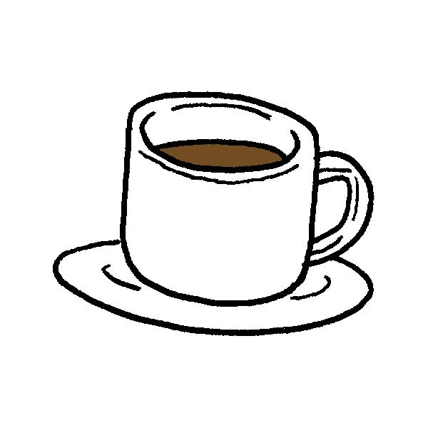 白いカップのイラスト