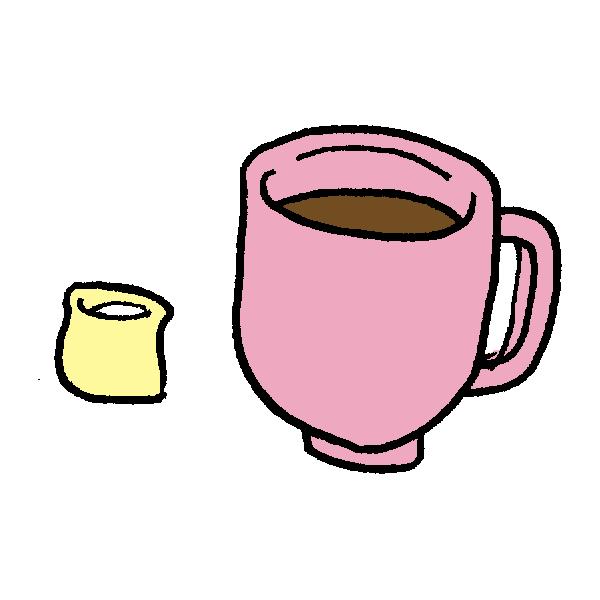 コーヒーとミルクのイラスト