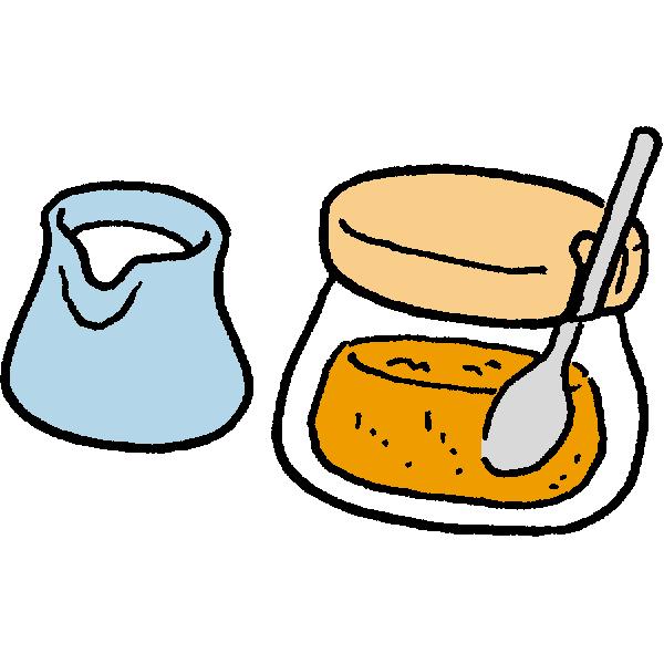 ミルクとお砂糖のイラスト