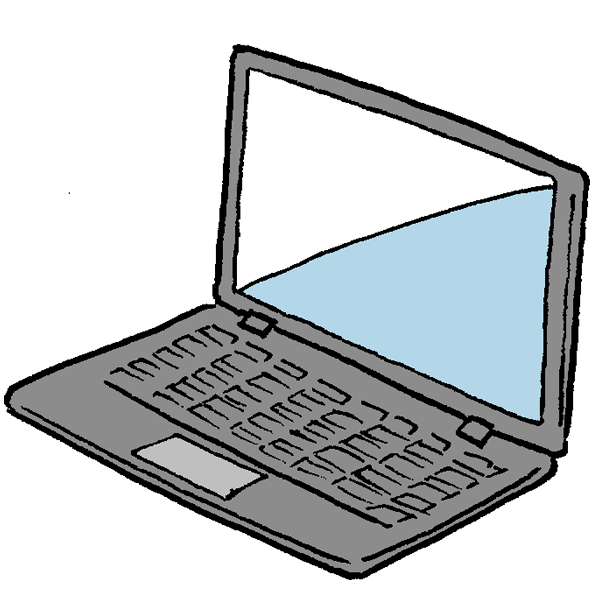 ノートパソコン1のイラスト