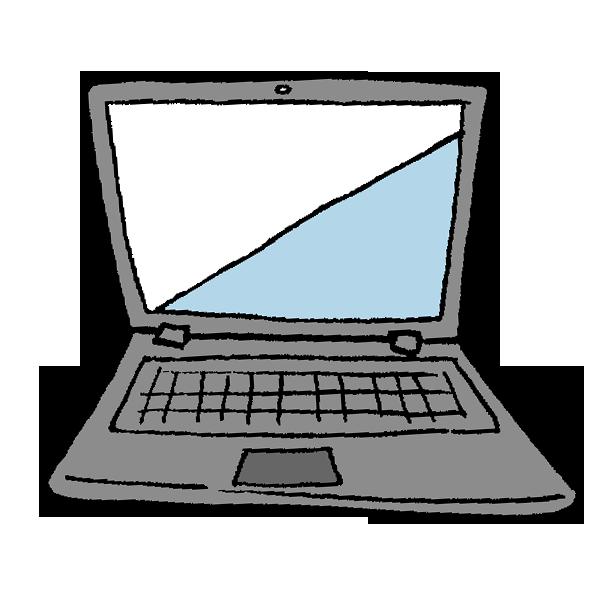 ノートパソコン2のイラスト