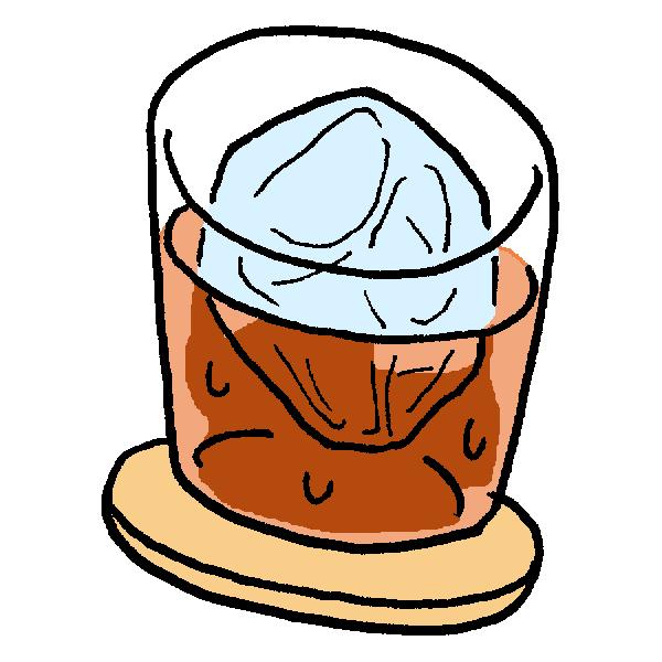 ウィスキーのイラスト