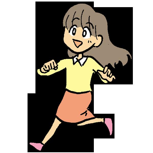 走る女の子のイラスト