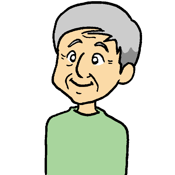 おじいちゃん1のイラスト