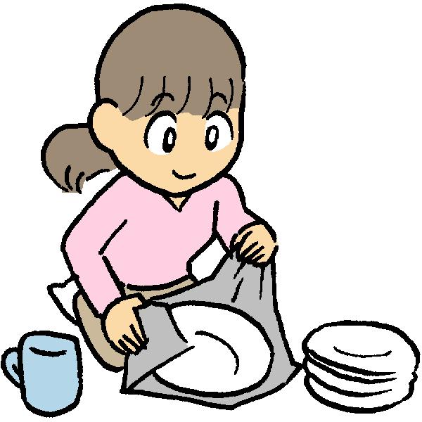 食器つめのイラスト