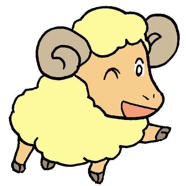 羊ウインクのイラスト