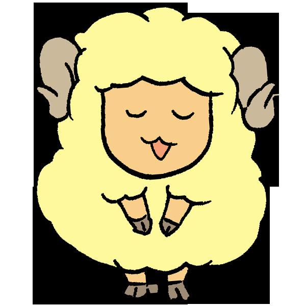 羊お辞儀のイラスト
