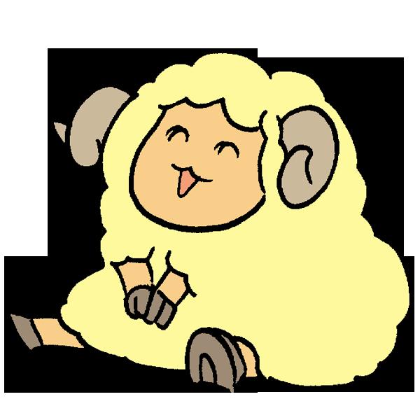 羊座るのイラスト