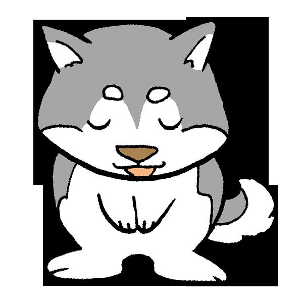 犬お辞儀のイラスト