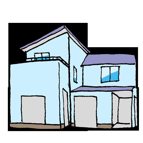 住宅4のイラスト