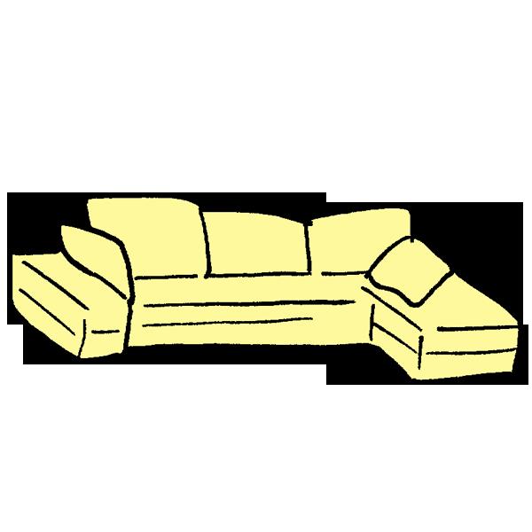 ソファベッドのイラスト
