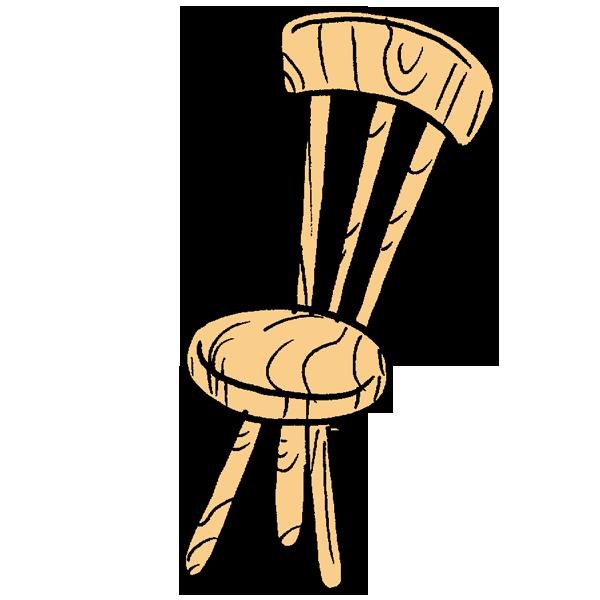 木の椅子のイラスト