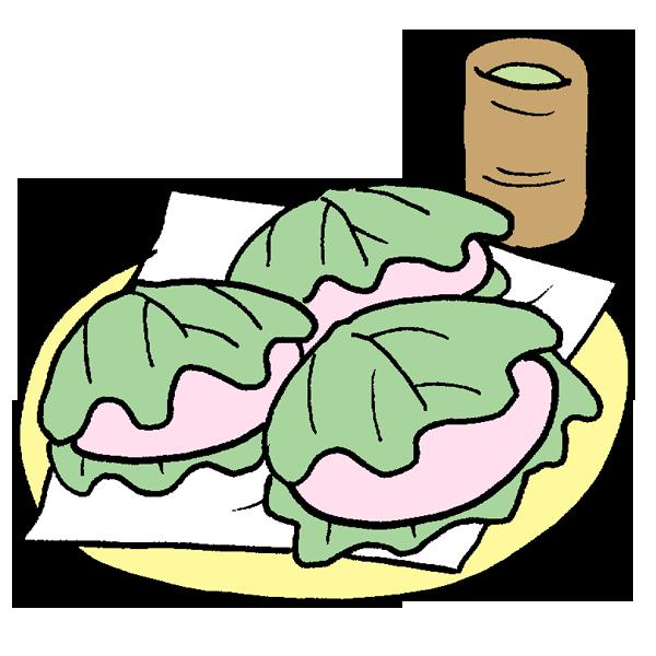かしわ餅のイラスト