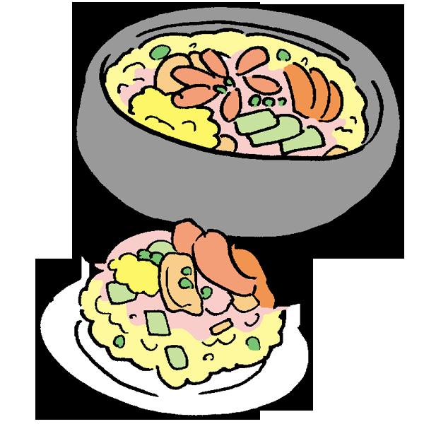 ちらし寿司のイラスト