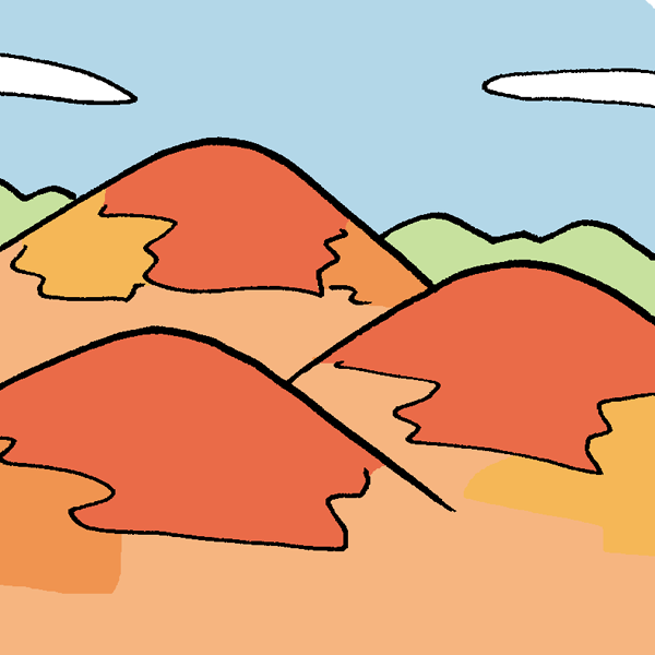 紅葉の山のイラスト