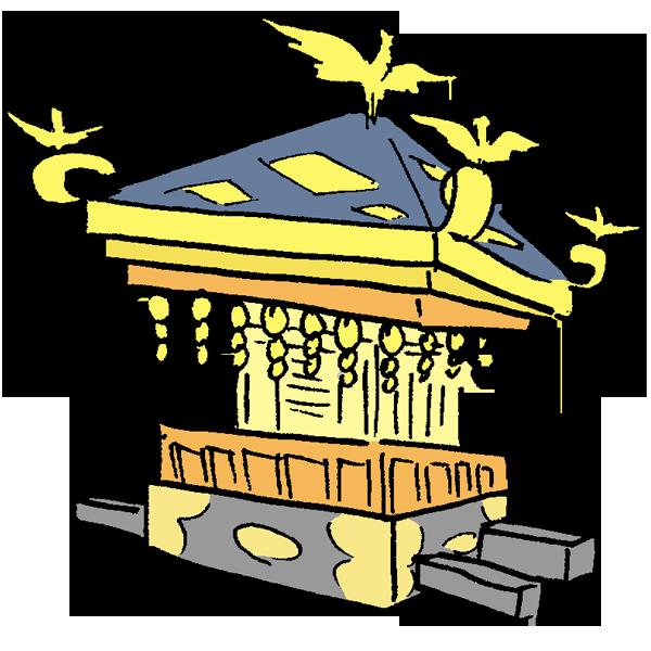 神輿のイラスト