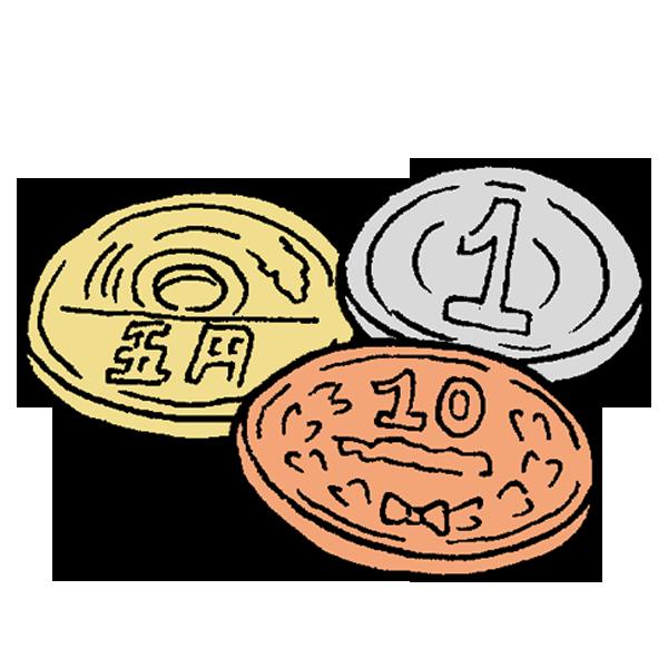 小銭1のイラスト