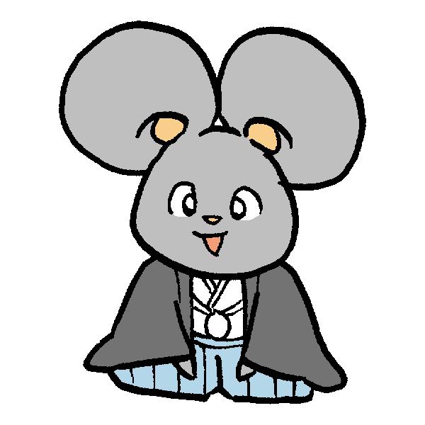 ネズミ着物2のイラスト