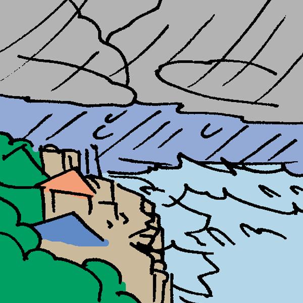 高波のイラスト