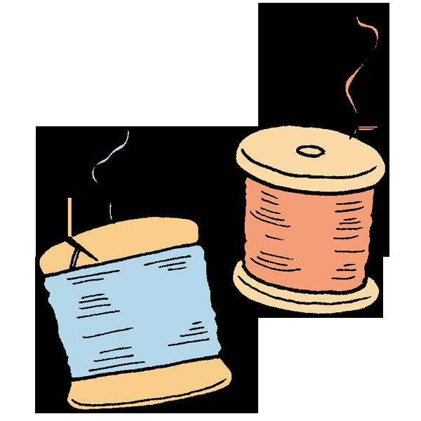 2種類糸のイラスト