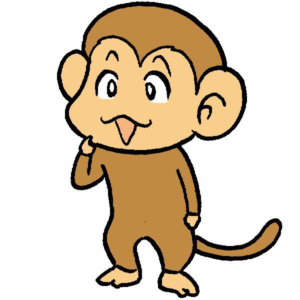 猿左向きのイラスト
