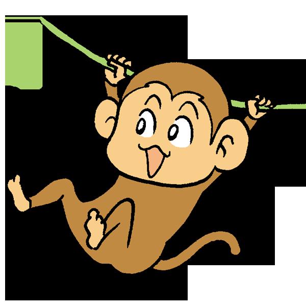 猿うんていのイラスト