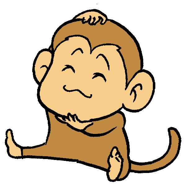 猿あたまかりかりのイラスト