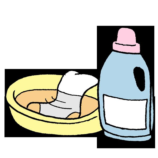つけおき洗いのイラスト