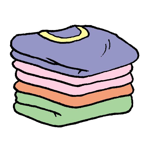 畳んだ服のイラスト