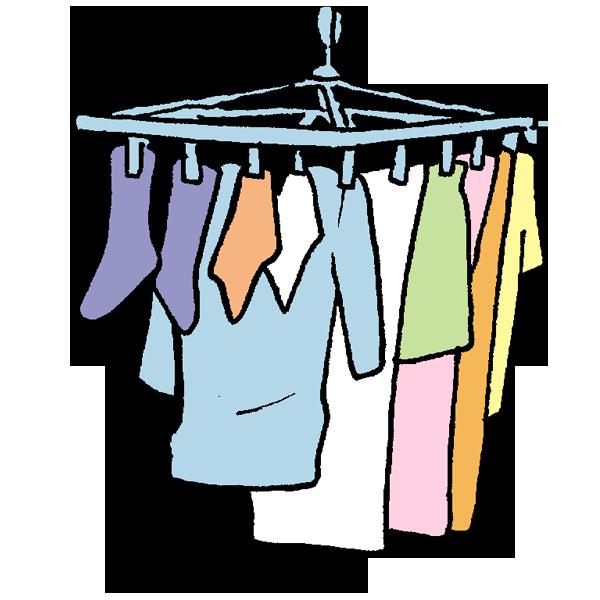 洗濯ものほしのイラスト