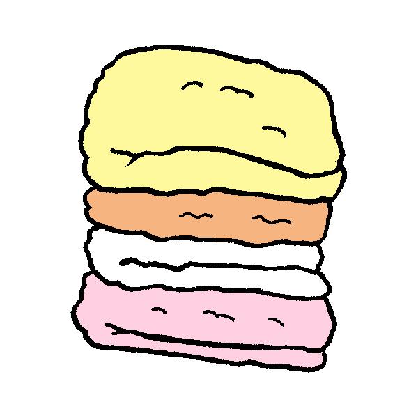 タオルたたみのイラスト