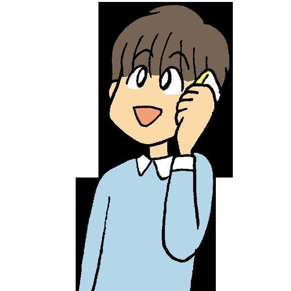 電話をかけるのイラスト