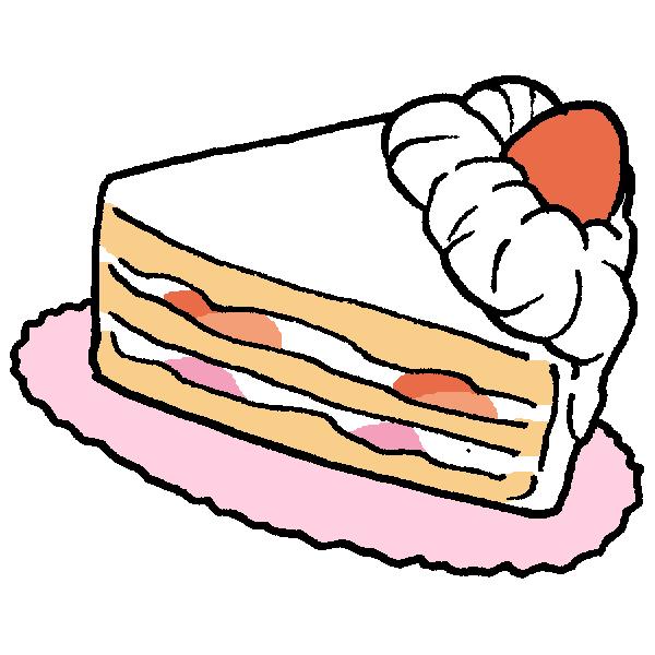カットケーキのイラスト