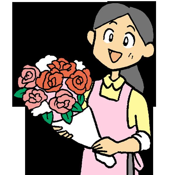 花屋さんのイラスト