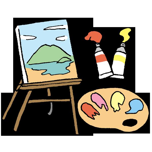 絵画のイラスト