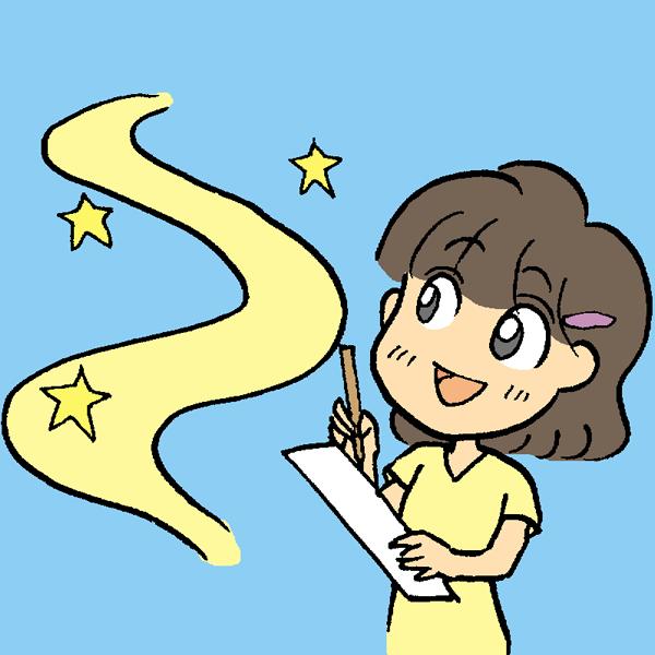 七夕女の子のイラスト