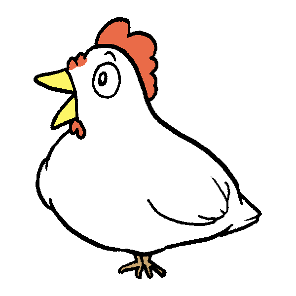 鳥直立のイラスト