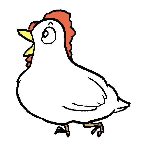 片足鳥のイラスト