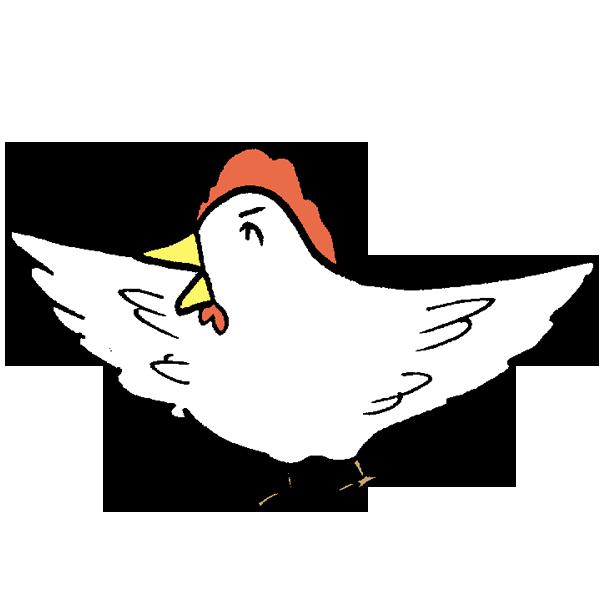 鳥羽広げのイラスト